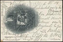 """Brief 1904, Bildkarte """"Offizierskasino Des Luftschiffer-Bataillons Aus 500 M Höhe"""" Mit 5 Pfg Germania Ab Reinickendorf W - Zeppeline"""