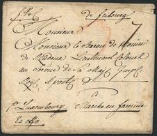 """Brief 1774, """"de Fribourg"""", Früher Vorphilabrief Nach MARCHE/Luxembourg An Einen österreichischen Offizier, Die Ursprüngl - Deutschland"""