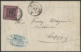 Brief 9 Kr Nachauflage, üblich Geschnitten, Interessanter Remailing Brief, Geschrieben In STRASSBURG Mit Vs. Firmenstemp - Baden