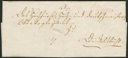 Brief ELLINGEN, Roter VL1 In Schreibschrift, Klar Auf Aktenfrischem Faltbrief Von 1796 Nach Dinkelsbühl - Bayern
