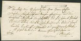 Brief PARTENKIRCHEN 1839, Bischofsbrief Mit Schwarzem L1 Nach München In Guter Erhaltung - Bayern