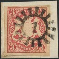 Briefstück 1 - ABBACH, Klar Auf Prachtbriefstück Mit Voll- Bis Meist Breitrandiger 3 Kr Wappen, Sign. Brettl BPP - Bayern