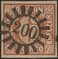 Gestempelt 200 - MARKTL, Zentrisch Glasklar Auf Farbfrischem, Allseits Vollrandigem Kabinettstück 6 Kr Type I, Sign. Pfe - Bayern
