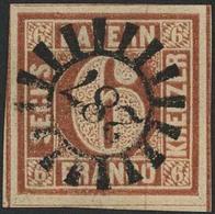 Gestempelt 287 - REMLINGEN, Zentrisch Glasklar Auf Farbfrischem, Allseits Breitrandigem Kabinettstück 6 Kr Type I Mit Fa - Bayern