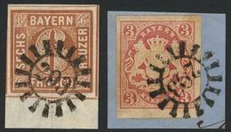 Gestempelt Briefstück 293 - RÖTZ / LUHE, Klar Auf Unterrandstück 6 Kr (leichte Eckbugspur Im Unterrand, Sign. Pfenninger - Bayern