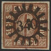 Gestempelt 340 - TANN, Zentrisch Klar Auf Schmal- Bis Vollrandiger 6 Kr, Winzige Stauchung Der Linken Oberen Ecke, Sign. - Bayern