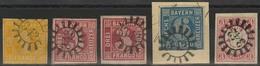 Gestempelt Briefstück 342 - NEUMARKT A. R., Je Klar Auf Fünf Voll- Bis Breitrandigen Prachtstücken - Bayern
