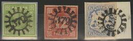 Gestempelt Briefstück 379 - PAPPENHEIM, Je Klar Auf Kabinettbriefstück 9 Kr Maigrün Vom Unterrand, Breitrandiger 12 Kr R - Bayern