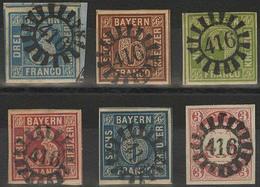 Briefstück Gestempelt 416 - ESCHENBACH / MARKTREDWITZ, Je Zentrisch Auf Vollrandigen Pracht-/Kabinettstücken: MiNr. 2 II - Bayern