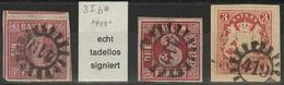 Gestempelt Briefstück 419 - GÖGGINGEN / REGENSTAUF, Klar Auf Drei Vollrandigen Prachtstücken, 1 Kr In Guter B-Farbe, Sig - Bayern
