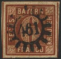 Gestempelt 461 - PFAFFENHOFEN / SCHMALNAU, Zentrisch Klar Auf Breitrandiger 6 Kr, Kleiner Verschlossener Spalt Im Untere - Bayern