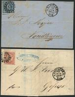 Brief 32 - BAMBERG, Klar In Zwei Verschiedenen Typen Auf Briefen 6 Kr Blau 1863 Nach Nördlingen (sign. Pfenninger) Und 3 - Bayern