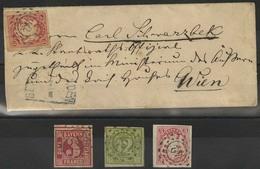 Gestempelt Brief 42 - BERCHTESGADEN, Je Klar Auf Lose Gestempelter 3 U. 12 Kr (repariert) Quadratausgabe Und 3 Kr Wappen - Bayern