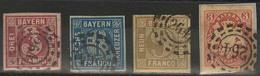 Gestempelt Briefstück 264 - KULMBACH, Kleine Ziffern, Je Auf Voll- Bis Breitrandiger 3, 6 U. 9 Kr Quadratausgabe Sowie T - Bayern