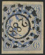Gestempelt 288 - LICHTENFELS, Zentrisch Klar Auf Breitrandigem Kabinettstück 6 Kr Wappen - Bayern