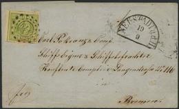 Brief 349 - NEUSTADT A.d.H., Postvereinsbrief Mit Vom Linken Bogenrand Stammender, Vollrandiger 9 Kr Am 19.09.1858 Nach  - Bayern