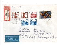 ALLEMAGNE RFA AFFRANCHISSEMENT COMPOSE SUR LETTRE RECOMMANDEE DE CHEMNITZ POUR LA FRANCE 1991 - [7] République Fédérale