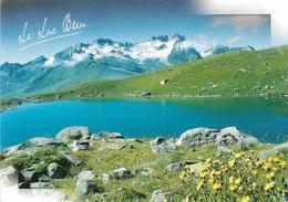 73 - Col De La Madeleine - Le Lac Bleu - 1 Timbre Philatélique Au Verso, Voir Scan - Cpm - écrite - - Altri Comuni