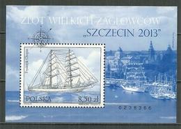 POLAND MNH ** Bloc 210 Courses De Grands Bateaux Szczecin213 Voilier Fryderyk Chopin Voile Bateau Boat - Blocs & Feuillets