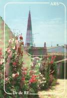 CPM Neuve.Ile De Ré .Ars En Ré L'Eglise Et Les Roses Trémières.ed Du Vieux Chouan Num R88 - Ile De Ré