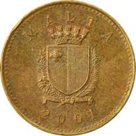 Monnaie, Malte, Cent, 2001, British Royal Mint, TB+, Nickel-brass, KM:93 - Malta