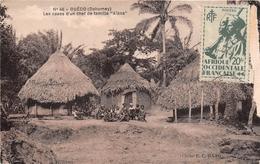 """¤¤  -  DAHOMEY   -  OUEDO   -  Les Cases D'un Chef De Famille """" Aïzos """"    -   ¤¤ - Dahomey"""