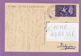 TANGER,1946.CARTE POSTALE AFFRANCHIE AVEC UN TIMBRE ANGLAIS SANS SURCHARGE. - Bureaux Au Maroc / Tanger (...-1958)