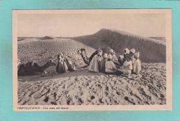 Old Postcard Of Una Sosta Nel Deserto,Tripolitania, Libya,S49. - Libya