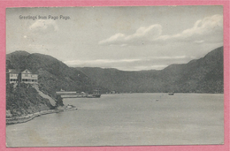 Samoa - Greetings From PAGO PAGO - U. S. Naval Station TUTUILA - 2 Scans - American Samoa