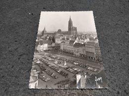 ANTIQUE POSTCARD FRANCE STRASBOURG LA PLACE KLEBER  CIRCULATED 1963 - Strasbourg