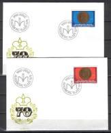 Liechtenstein C98 FDC 1976 Coin Anniversary Prince Franz Josef II - FDC
