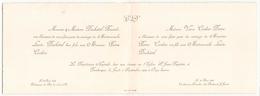 Faire-part De Mariage Du 30 Août 1929 à Dunkerque - Boda