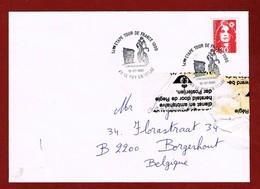 Brief 1990 Beschadigd En Hersteld Door De Post, Met Gestencild Excuus 3 Scan - Postmark Collection