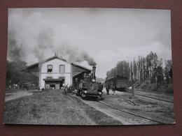 CPSM  72 BOULOIRE La Gare Avec Micheline Train REEDITION En CPSM D'une CPA Ancienne Existante :  Editions JIPE - Bouloire