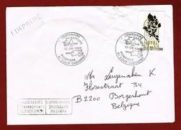 Brief 1988  Gelegenheidsstempel  Beschadigd Te Borgerhout 1 Toegekomen ; 2 Scan - Postmark Collection