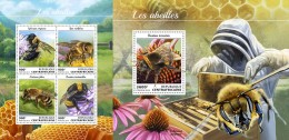 Z08 CA18407ab Central Africa 2018 Bees MNH ** Postfrisch Set - Centrafricaine (République)
