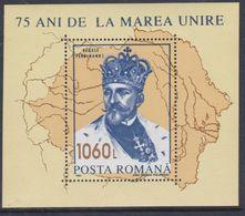 """Roumanie BF N° 232 XX  75ème Anniversaire De La """"Grande Union"""", Le Bloc Sans Charnière, TB - Blocks & Sheetlets"""