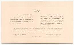 Faire-part De Mariage Du 30 Novembre 1932 à Wasquehal - Boda