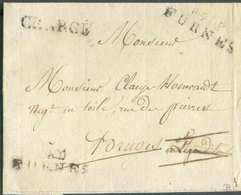 LSC (ca. 1800) De P.91.P./FURNES + Griffe CHARGE Vers Bruges. - B/TB -  13045 - 1794-1814 (Période Française)