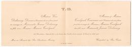 Faire-part De Mariage Du 25 Août 1930 à Mons-en-Baroeul - Boda