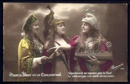 CPA ANCIENNE FRANCE- MILITARIA- PATRIOTIQUE- 3 FEMMES ALLIÉES- RUSSIE- FRANCE- ANGLETERRE - Heimat