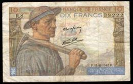 10 FRANCS MINEUR 11.6.1942 F:8/3 - 1871-1952 Anciens Francs Circulés Au XXème