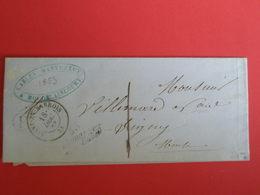 Marque Postale Cursive Demange-aux-eaux 1853 + F Cerclé De Houdelaincourt - 1849-1876: Période Classique