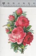 Jen. Très Beau Découpis En Forme De Losange Avec Motifs De Fleurs. Q1 & Q2 - Découpis