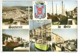 CPM Sète  Souvenir De Sète Multivue - Frontignan