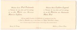 Faire-part De Mariage Du 27 Décembre à Roncq - Boda