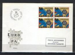 Liechtenstein M13 FDC 1967 Europa CEPT - FDC