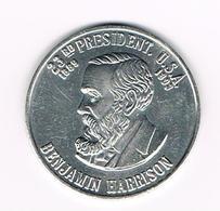 &   PENNING BENJAMIN HARRISON 23 RD PRESIDENT.U.S.A. - Elongated Coins