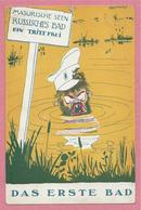 Guerre 14/18 - Carte Humoristique Allemande Signée LEONARD - Das Erste Bad - Masurische Seen - Russisches Bad - Guerra 1914-18