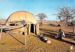 Afrique-BURKINA FASO Pays Liptako Près De DORI Province Du SENO Case Hémisphérique (nattes Peulh Djelgobe)(architecture) - Burkina Faso